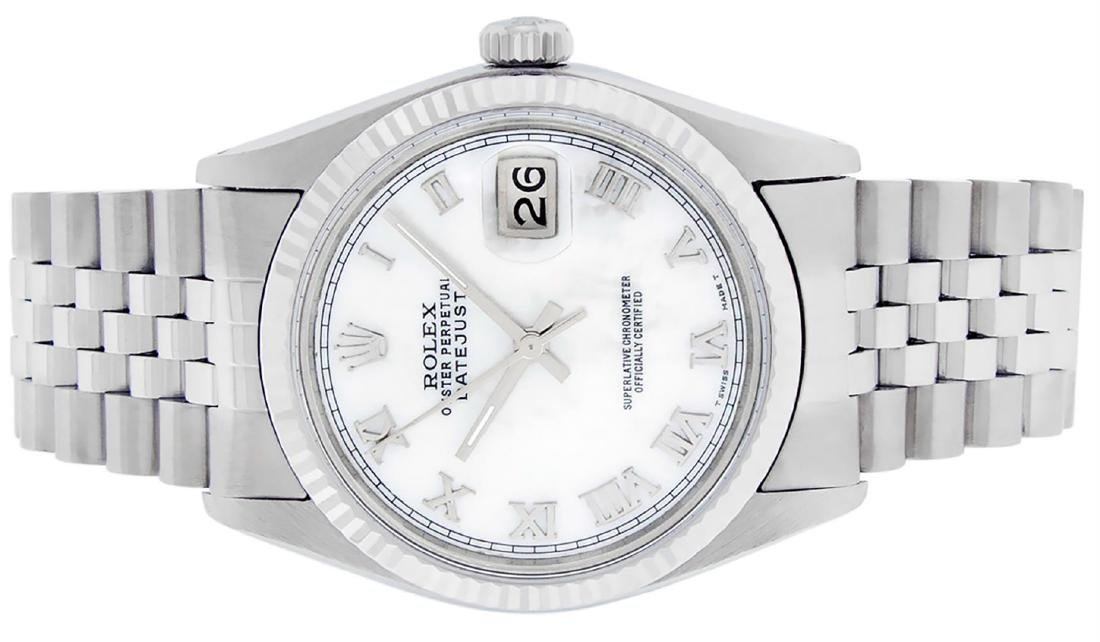 Rolex Men's Stainless Steel Mother Of Pearl Roman - 6