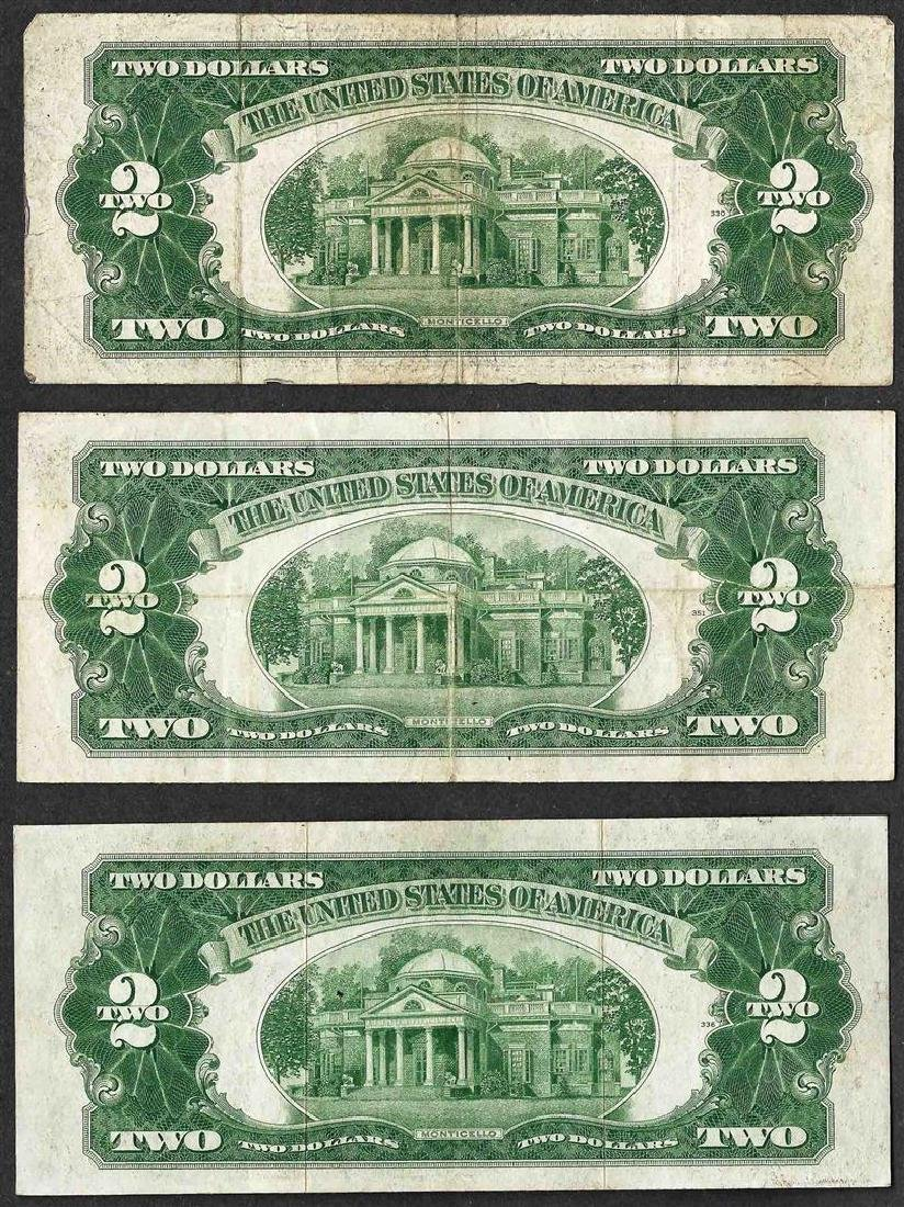 Lot of (3) 1928 $2 Legal Tender Notes - 2