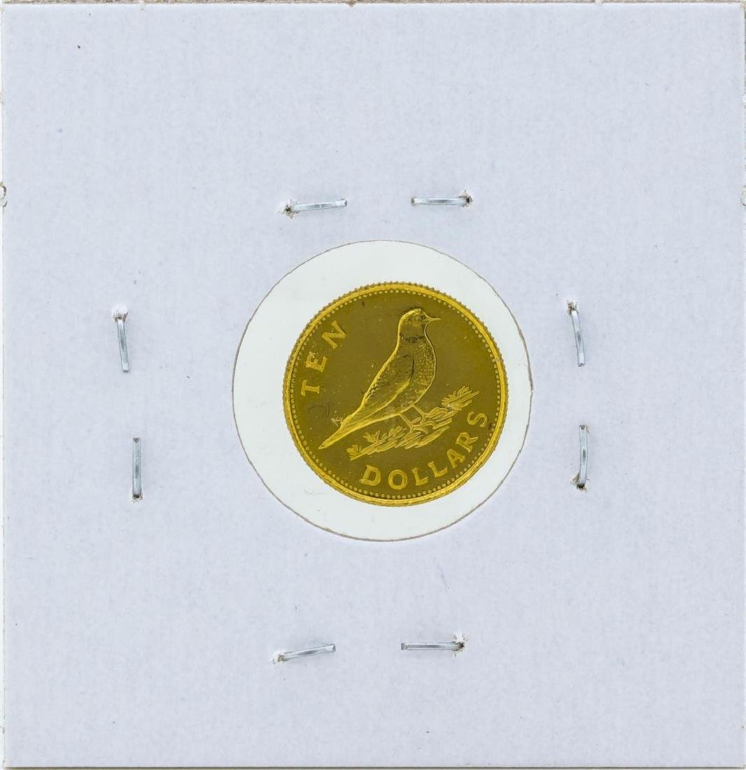 1973 $10 Commonwealth of the Bahamas Gold Coin - 2