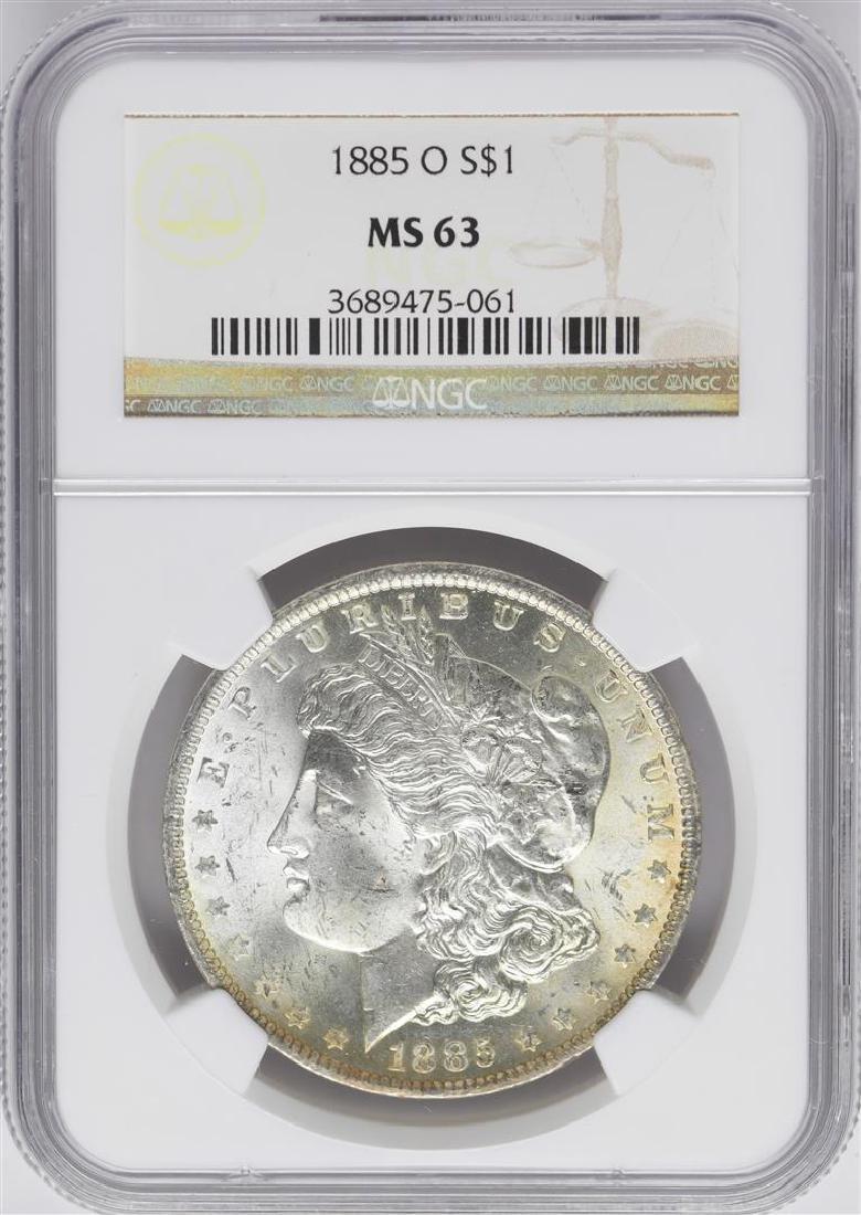 1885-O $1 Morgan Silver Dollar Coin NGC MS63 Nice
