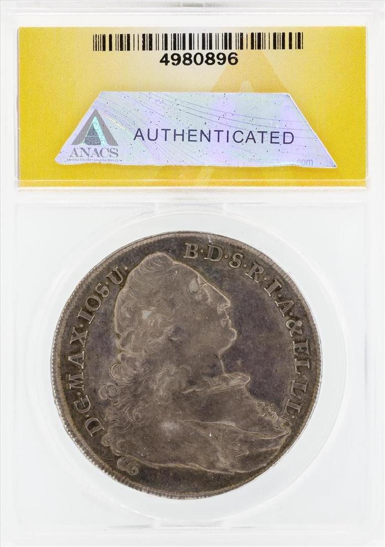1776 Thal Germany Bavaria Coin ANACS EF45 - 2