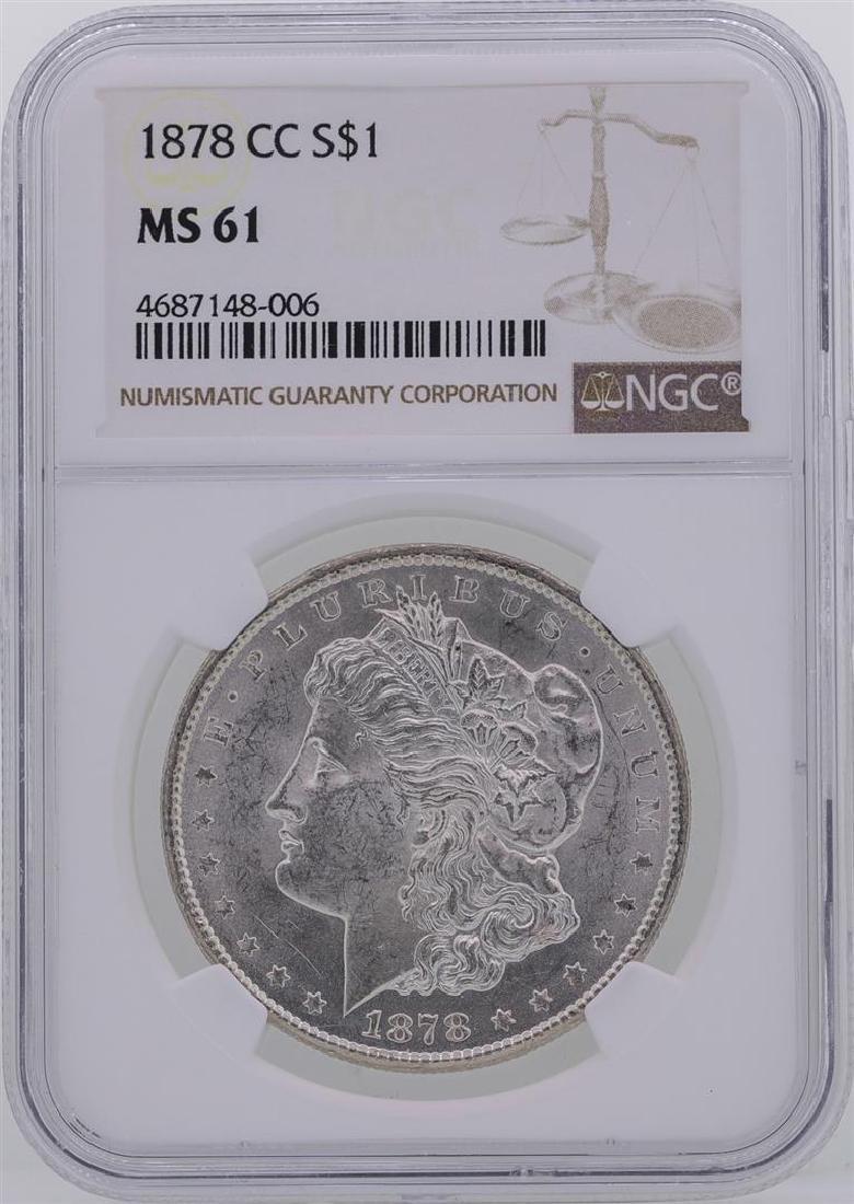 1878-CC $1 Morgan Silver Dollar Coin NGC MS61