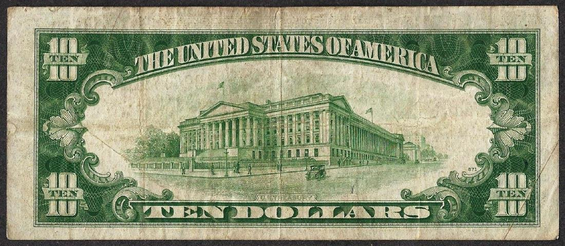 1934A $10 Silver Certificate WWII Emergency North - 2