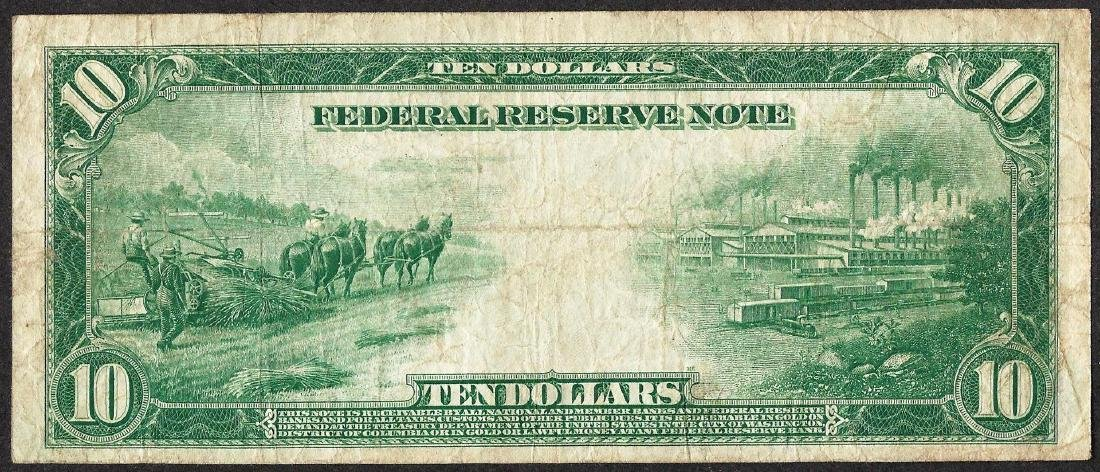1914 $10 Federal Reserve Note Chicago - 2