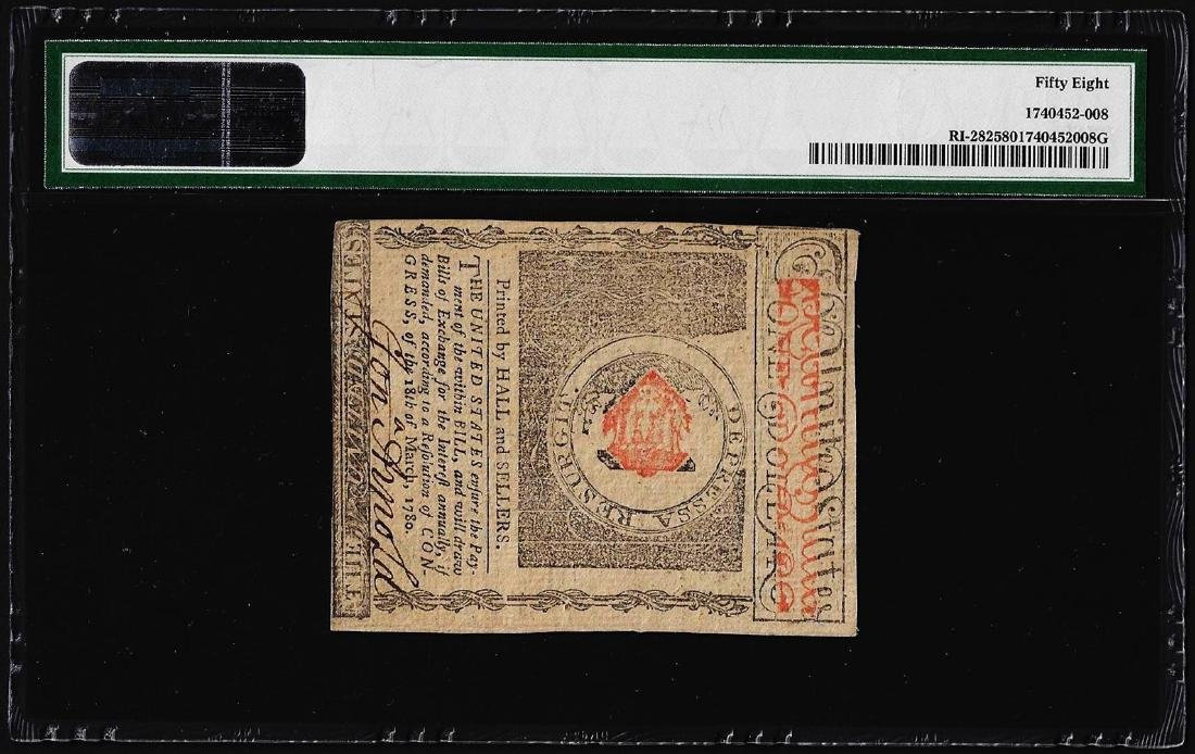 July 2, 1780 $1 Rhode Island Colonial Currency Note Fr. - 2