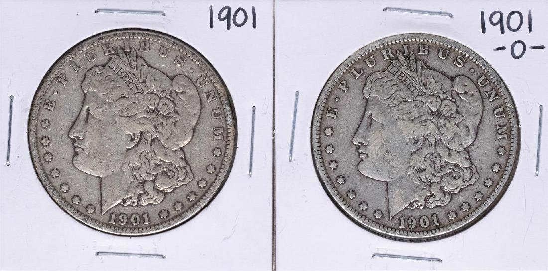 Lot of 1901 & 1901-O $1 Morgan Silver Dollar Coins