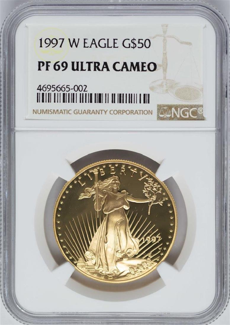 1997-W $50 American Gold Eagle Coin NGC PF69 Ultra