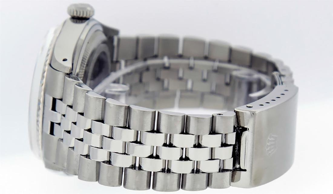 Rolex Men's Stainless Steel Black Diamond 36MM Datejust - 8