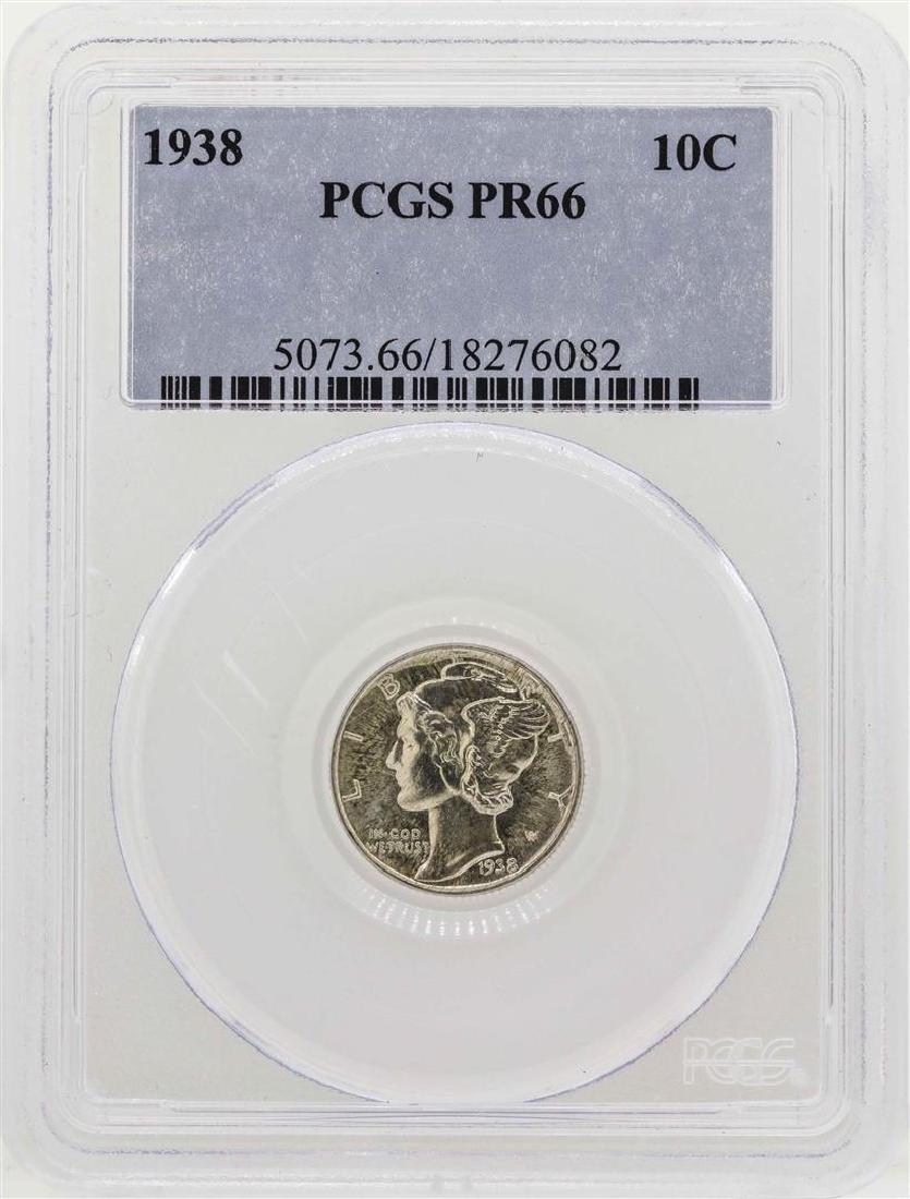 1938 Mercury Dime Proof Coin PCGS PR66