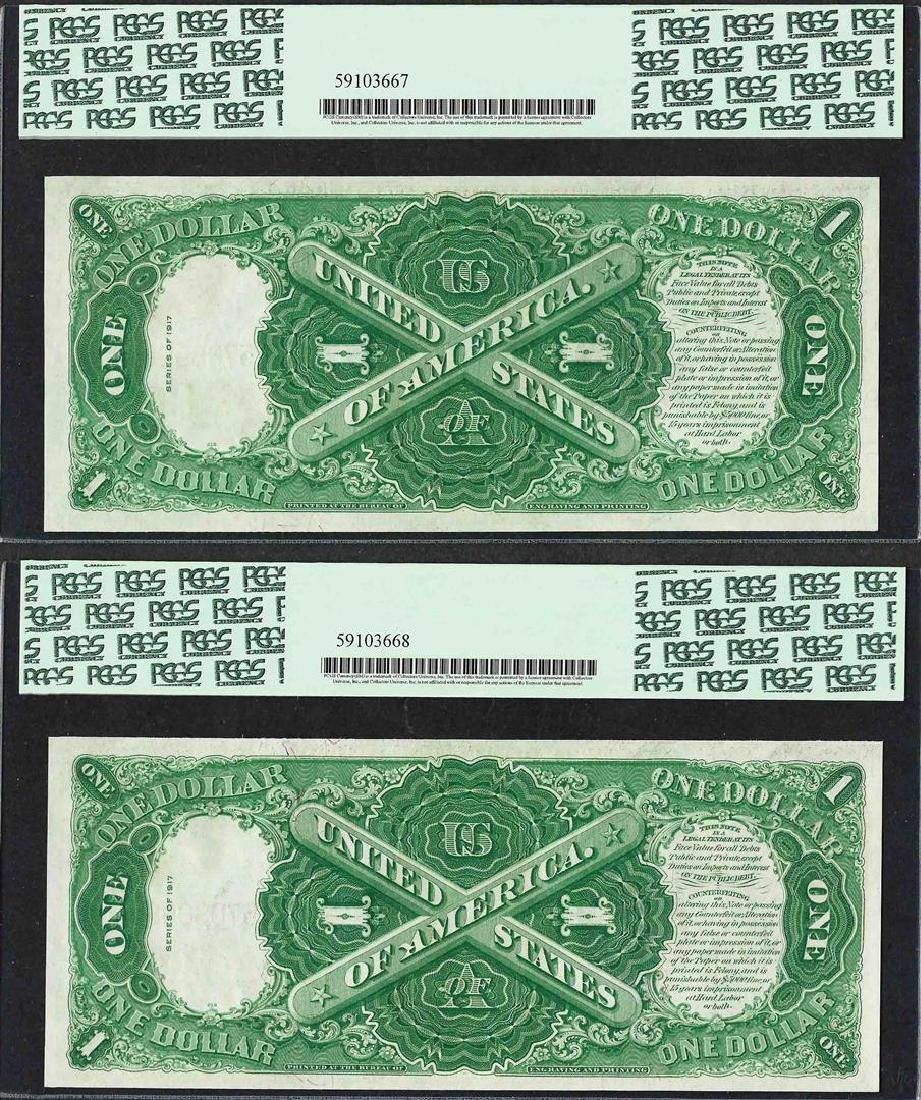 (2) Consecutive 1917 $1 Legal Tender Notes Fr.36 PCGS - 2
