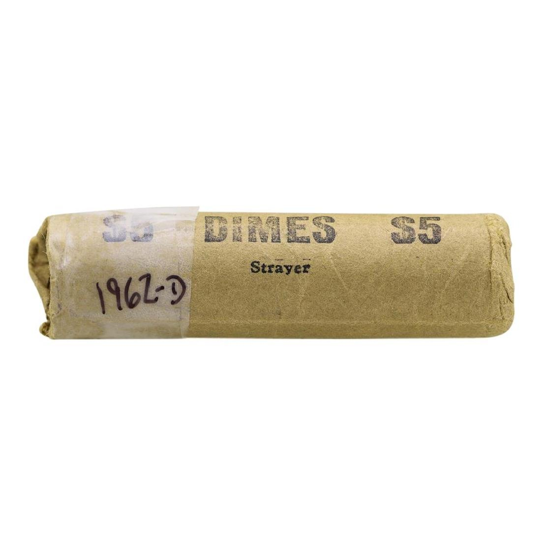 Roll of (50) 1962-D Brilliant Uncirculated Roosevelt