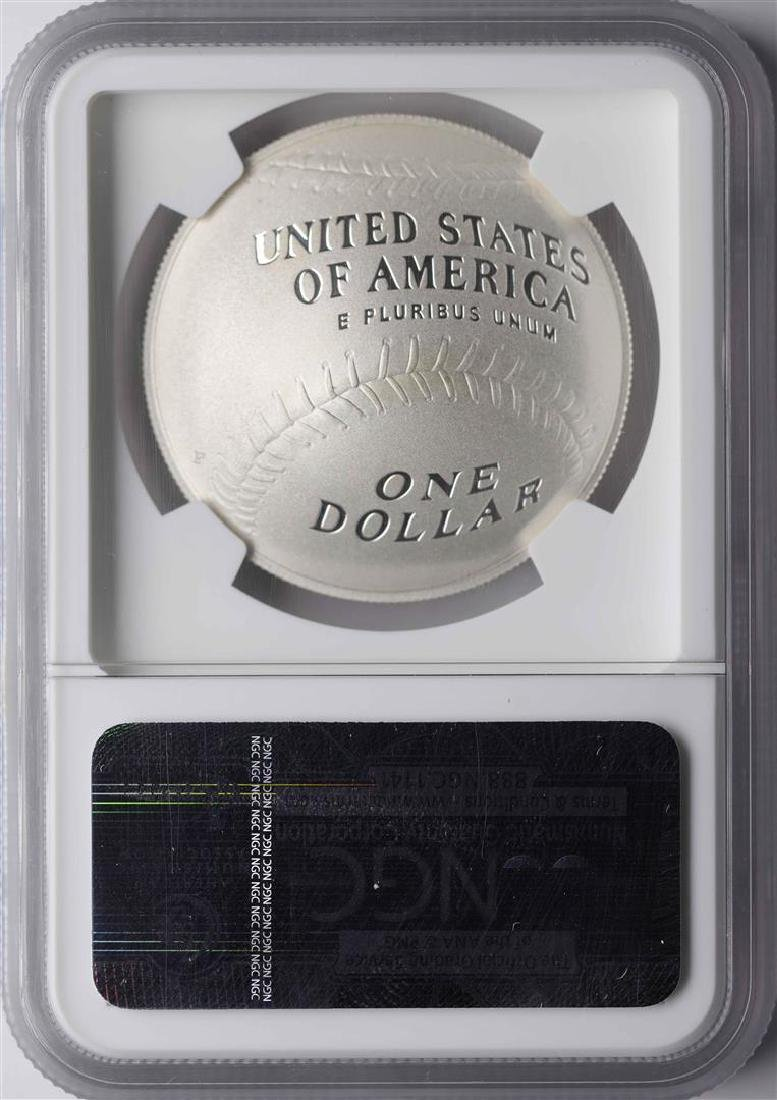 2014-P $1 Baseball Hall of Fame Coin NGC PF70 Ultra - 2