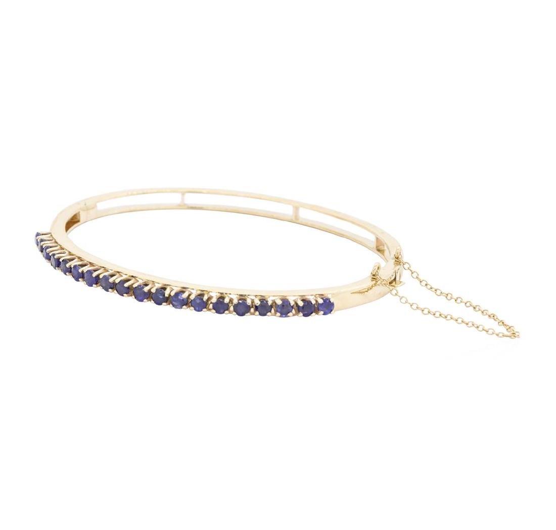 14KT Yellow Gold 2.00 ctw Sapphire Bangle Bracelet