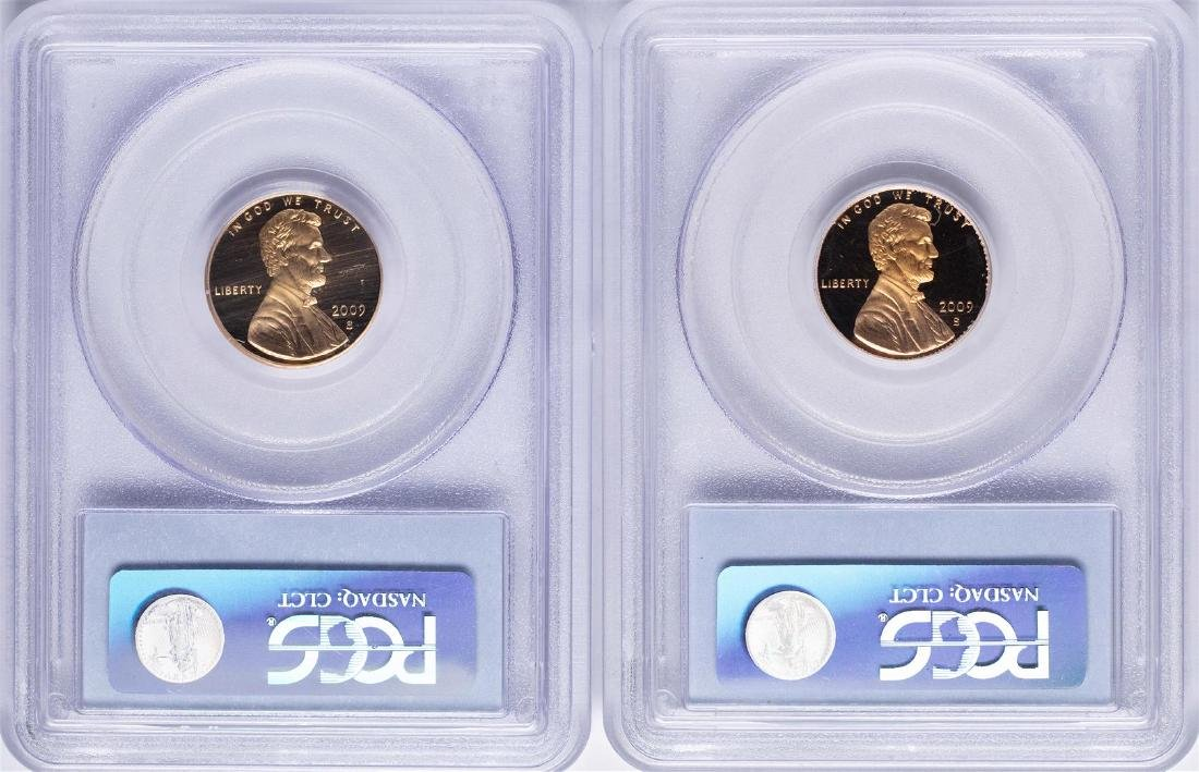 Lot of (2) 2009-S Lincoln Cent Proof Coins PCGS - 2