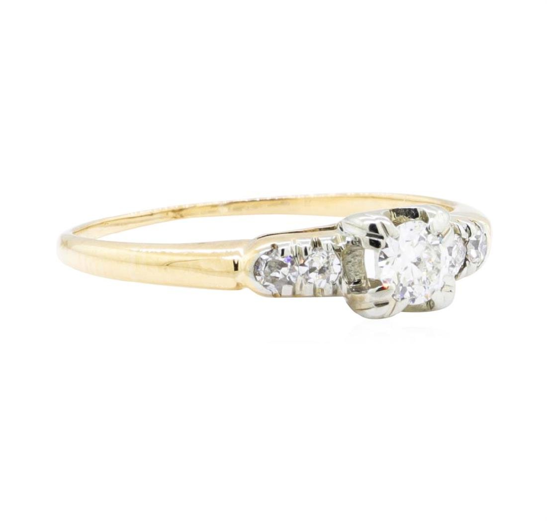 14KT Yellow Gold and White Gold 0.27 ctw Diamond Ring