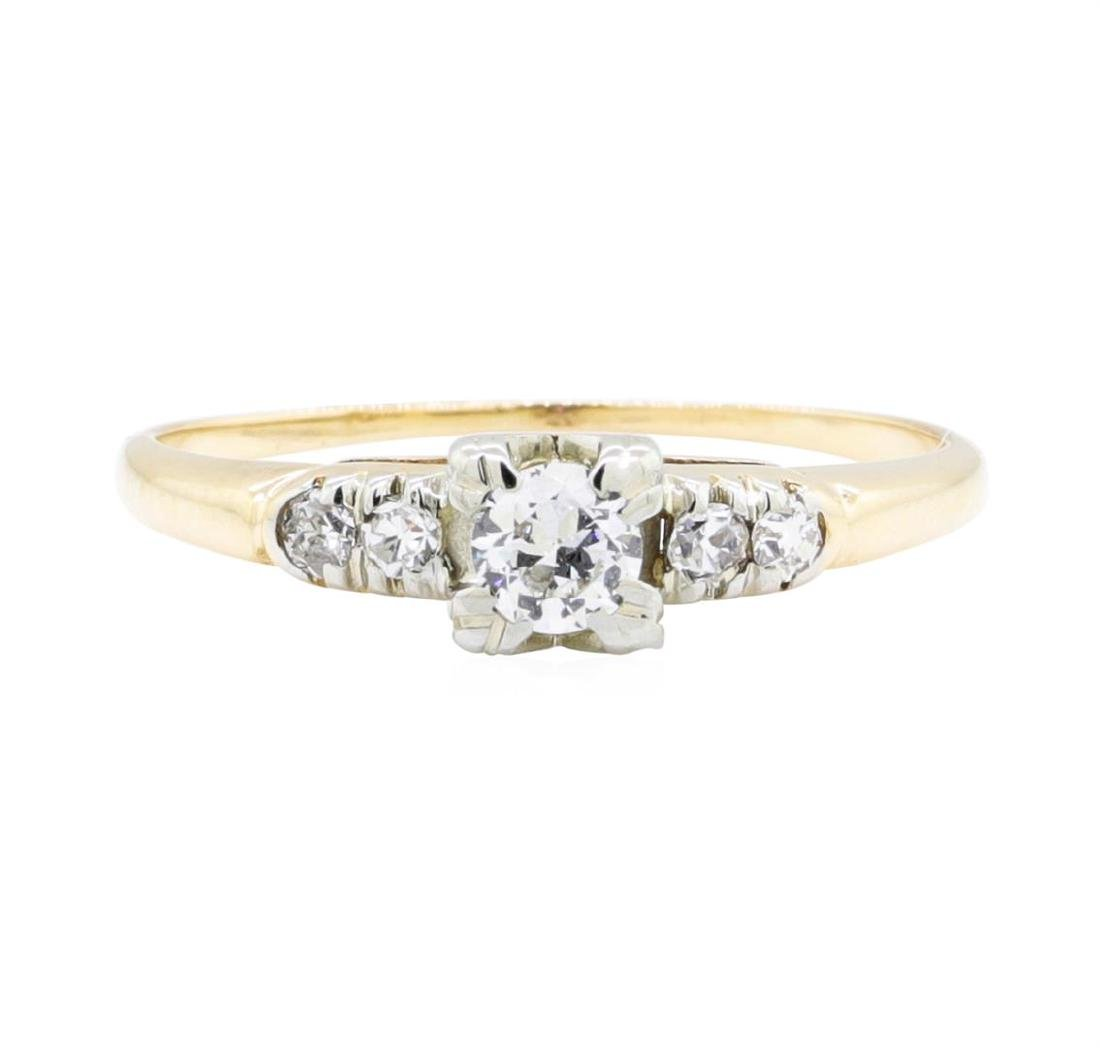14KT Yellow Gold and White Gold 0.27 ctw Diamond Ring - 2