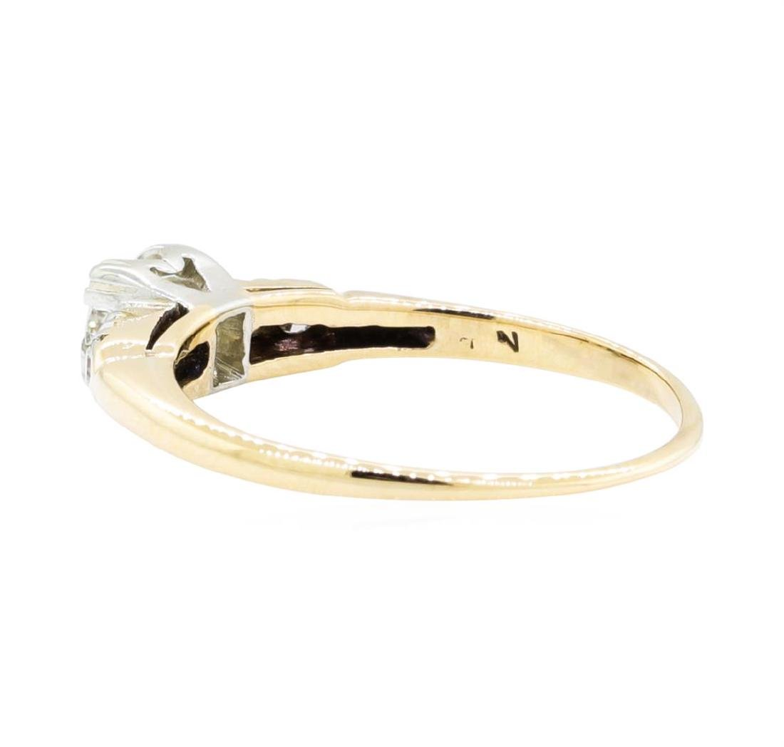 14KT Yellow Gold and White Gold 0.27 ctw Diamond Ring - 3