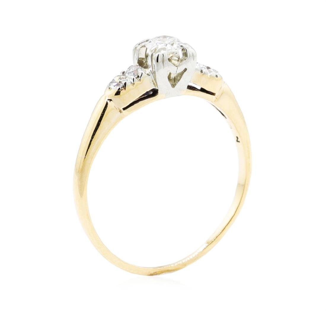14KT Yellow Gold and White Gold 0.27 ctw Diamond Ring - 4