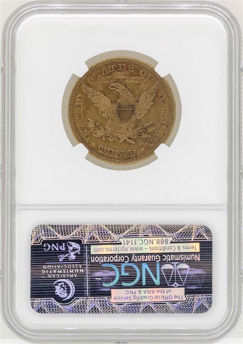 1874 $10 Liberty Head Eagle Gold Coin NGC VF35 - 2