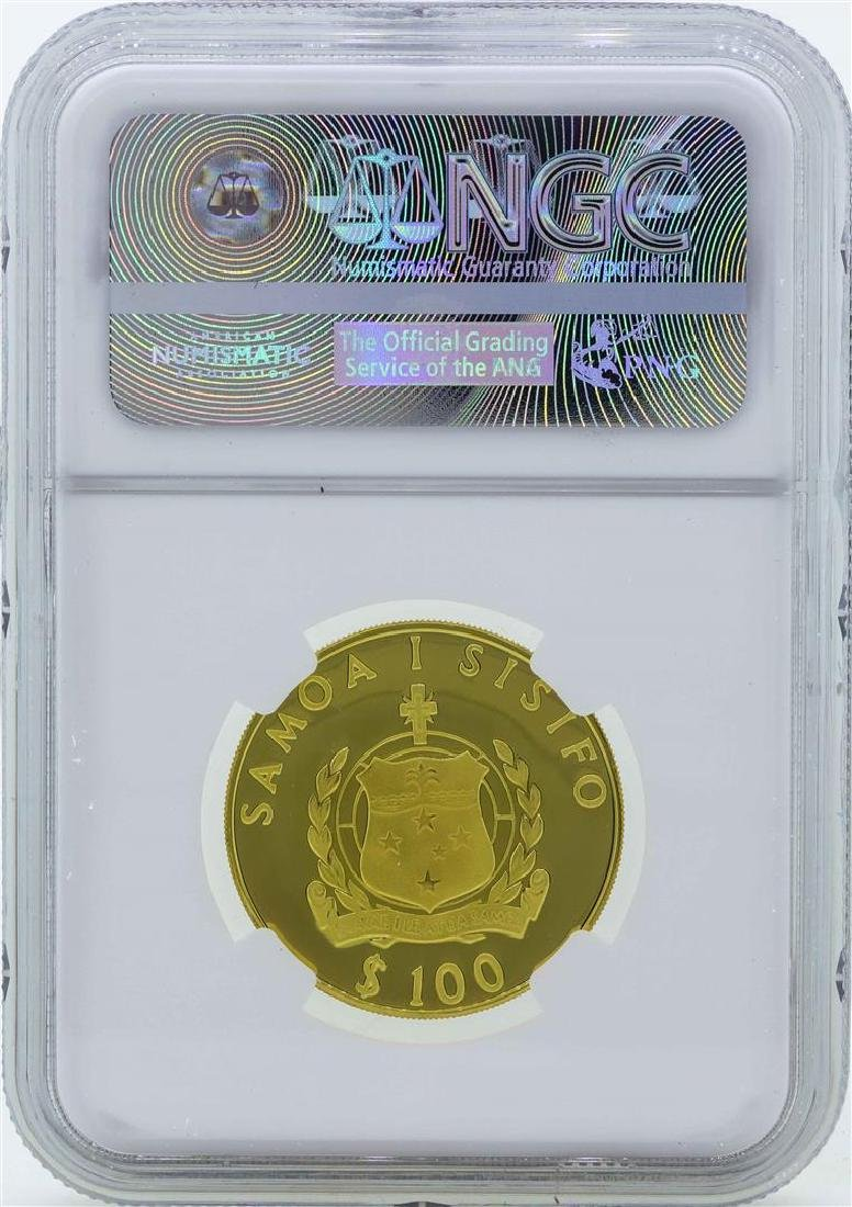1981 Samoa 100 Tala Prince Charles Royal Wedding Gold - 2