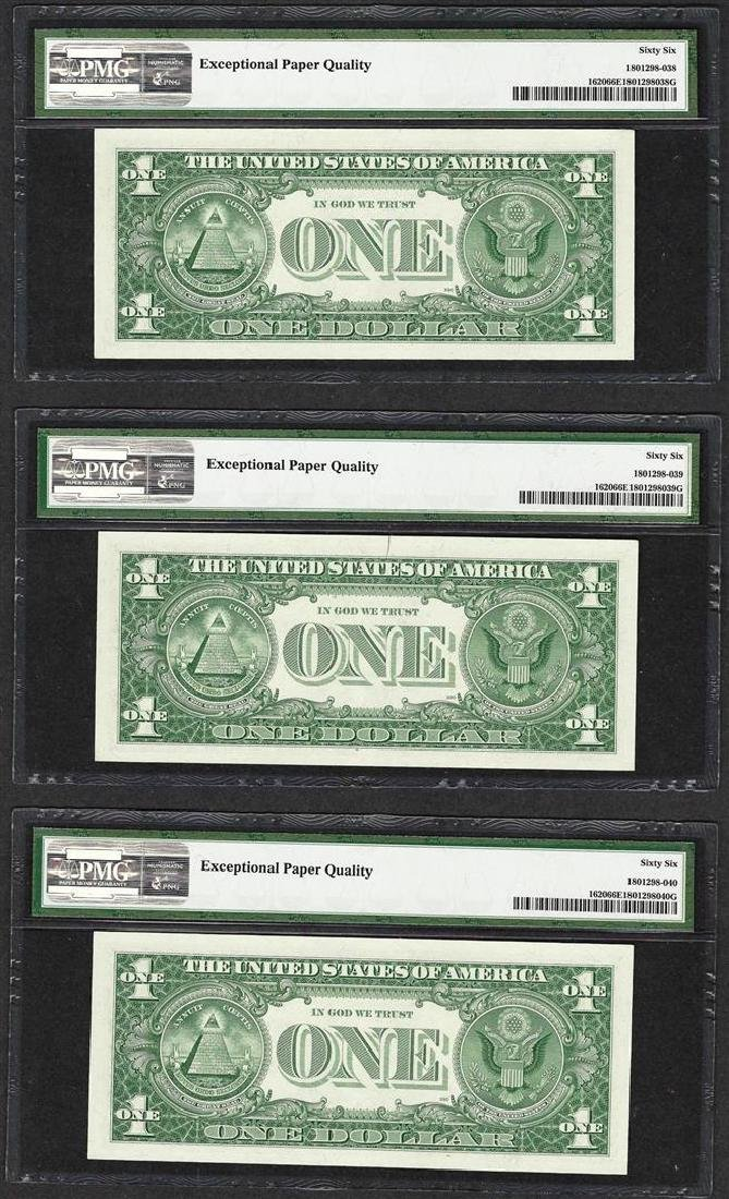 Lot of (3) Consecutive 1957A $1 Silver Certificate - 2