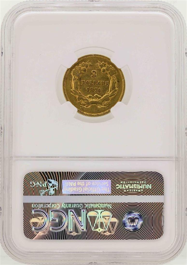 1874 $3 Indian Princess Head Gold Coin NGC XF40 - 2