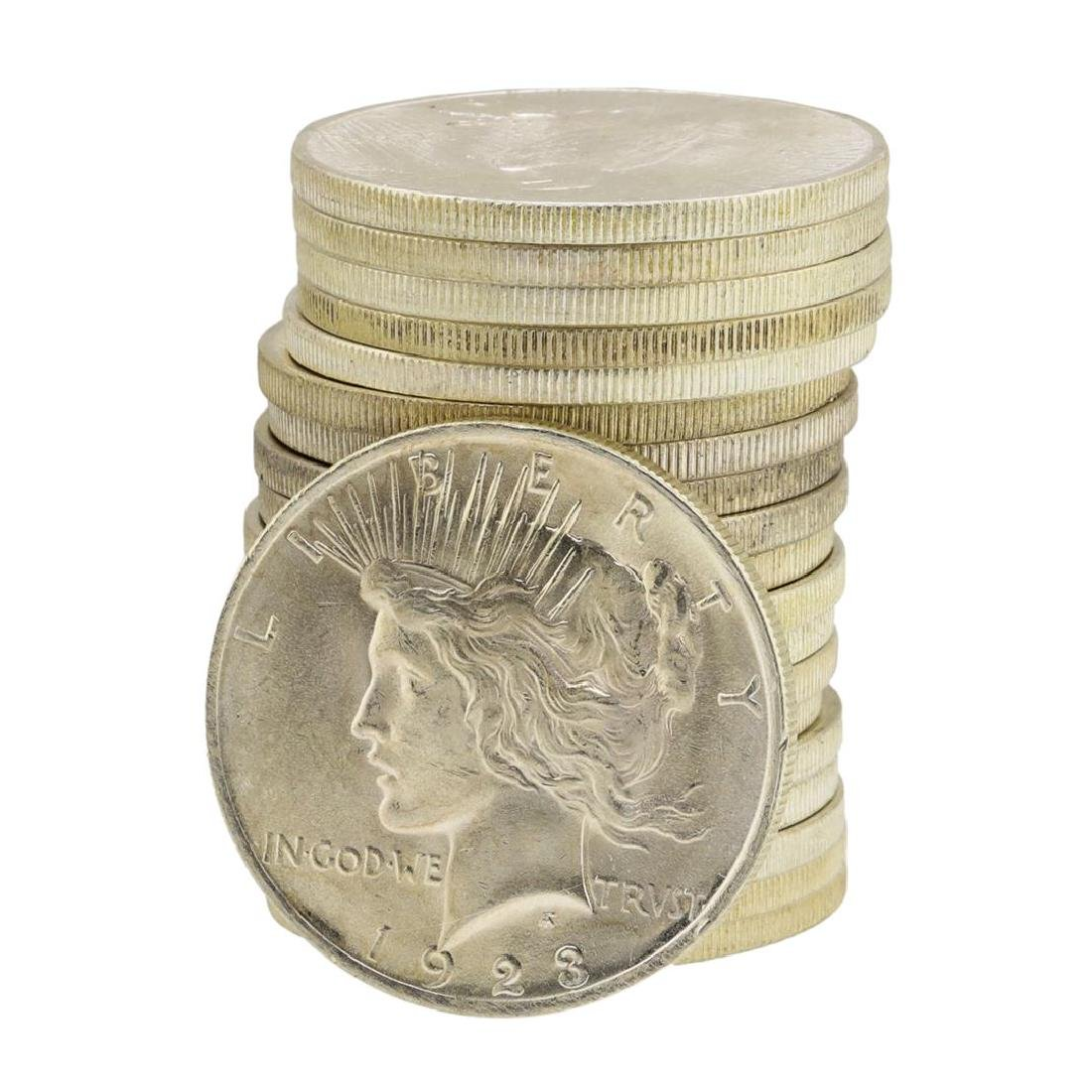 Roll of (20) 1923 $1 Brilliant Uncirculated Peace