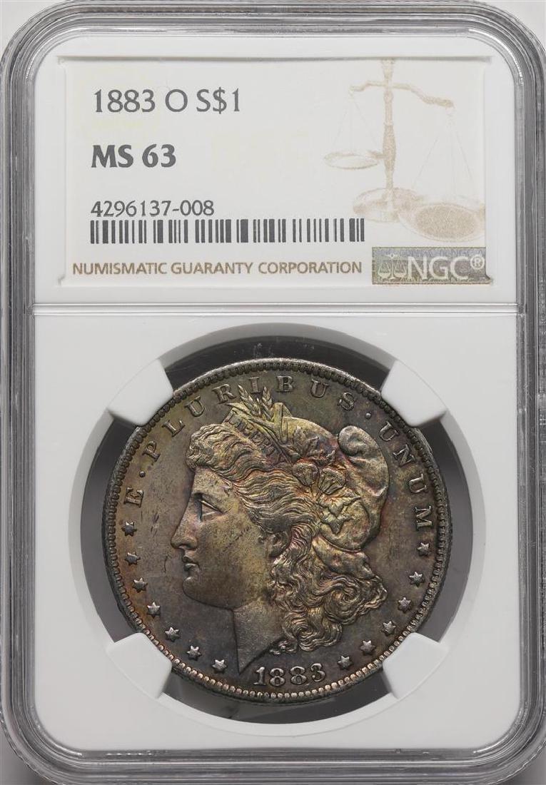 1883-O $1 Morgan Silver Dollar Coin NGC MS63 Nice