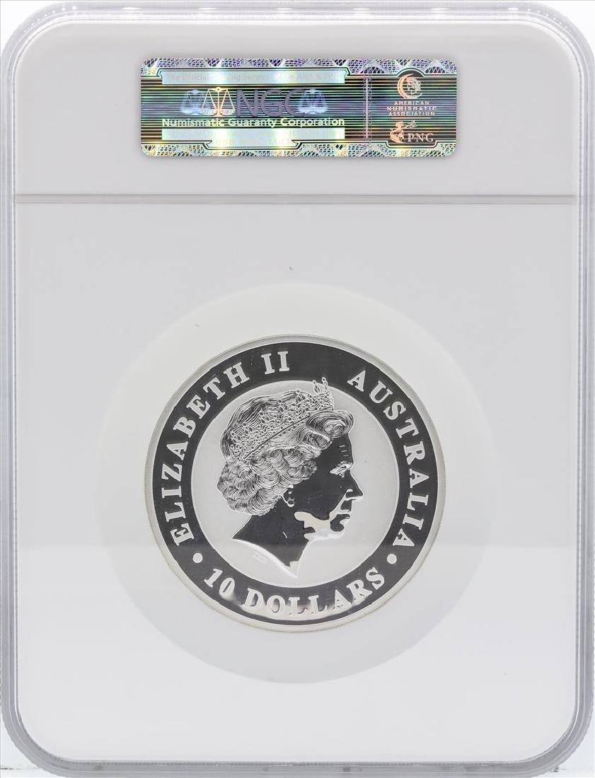 2013P Australia $10 Kookaburra 10 Ounce Silver Coin NGC - 2