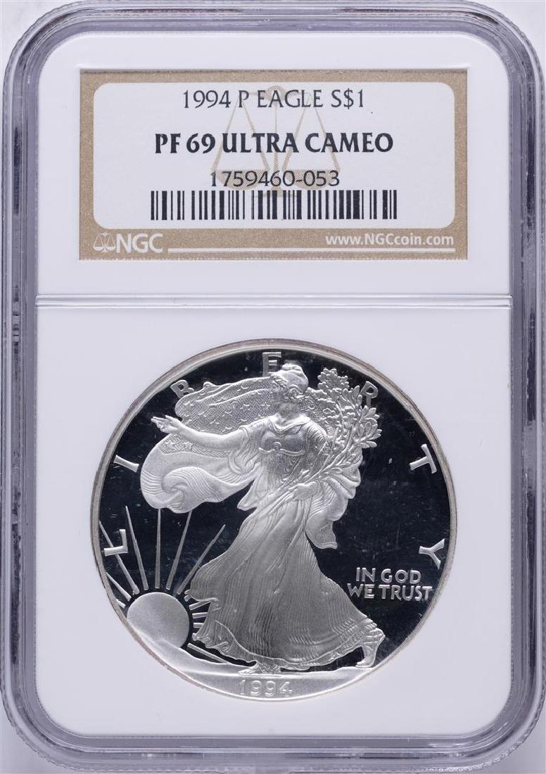 1994 $1 American Silver Eagle Coin NGC PF69 Ultra Cameo