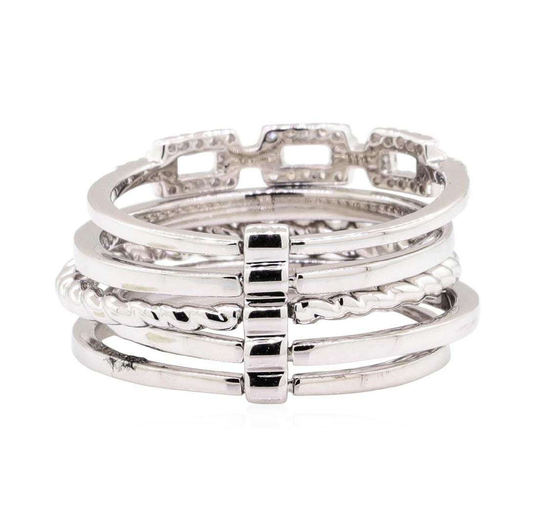 14KT White Gold 0.20 ctw Diamond Stackable Band - 3