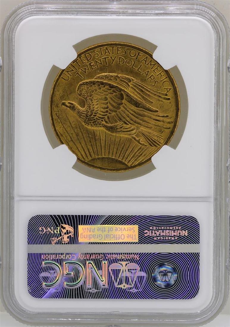 1908 No Motto $20 St. Gaudens Double Eagle Gold Coin - 2