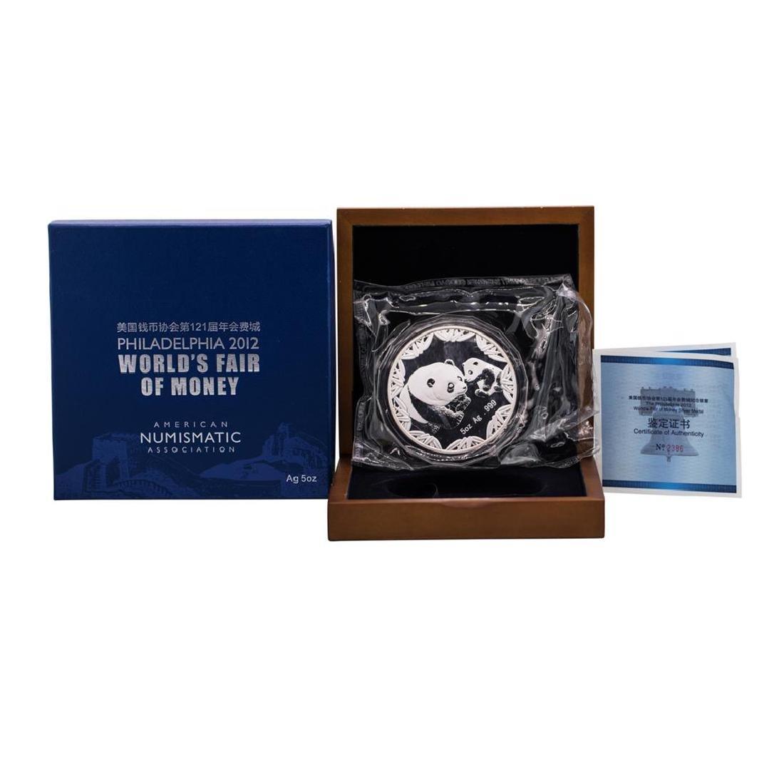 2012 Philadelphia World's Fair of Money 5 oz. Silver
