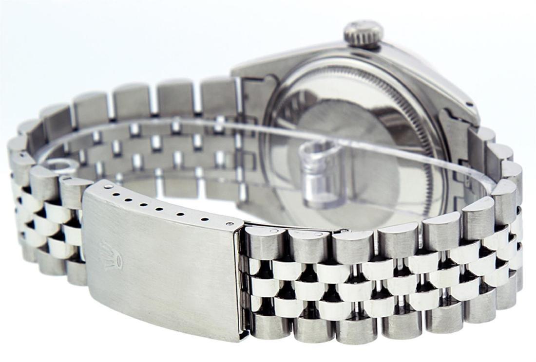 Rolex Men's Stainless Steel 36mm Green Vignette Diamond - 6