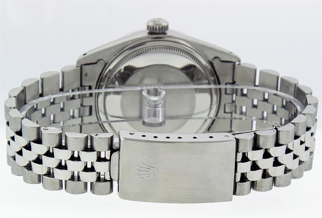 Rolex Men's Stainless Steel 36mm Green Vignette Diamond - 7