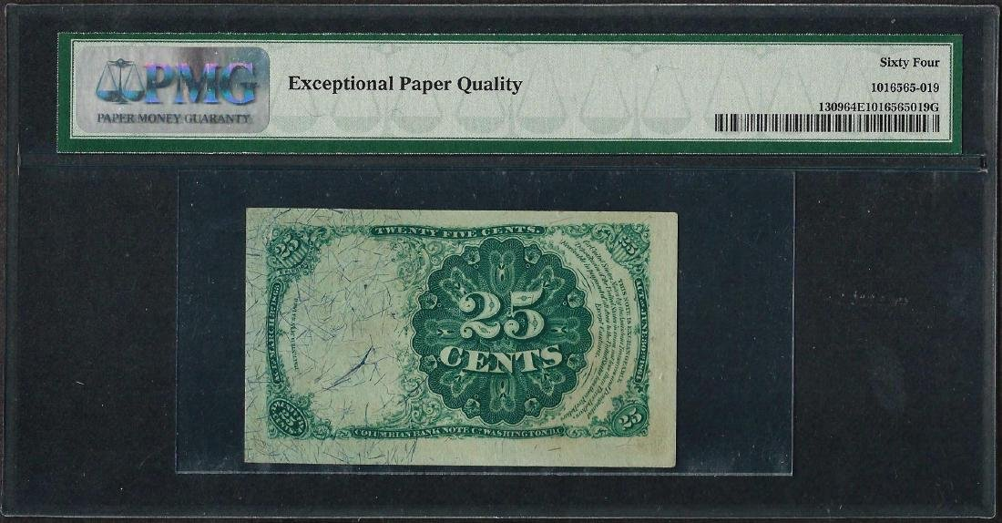 1874 25 Cent Fractional Currency Note Fr.1309 PCGS - 2