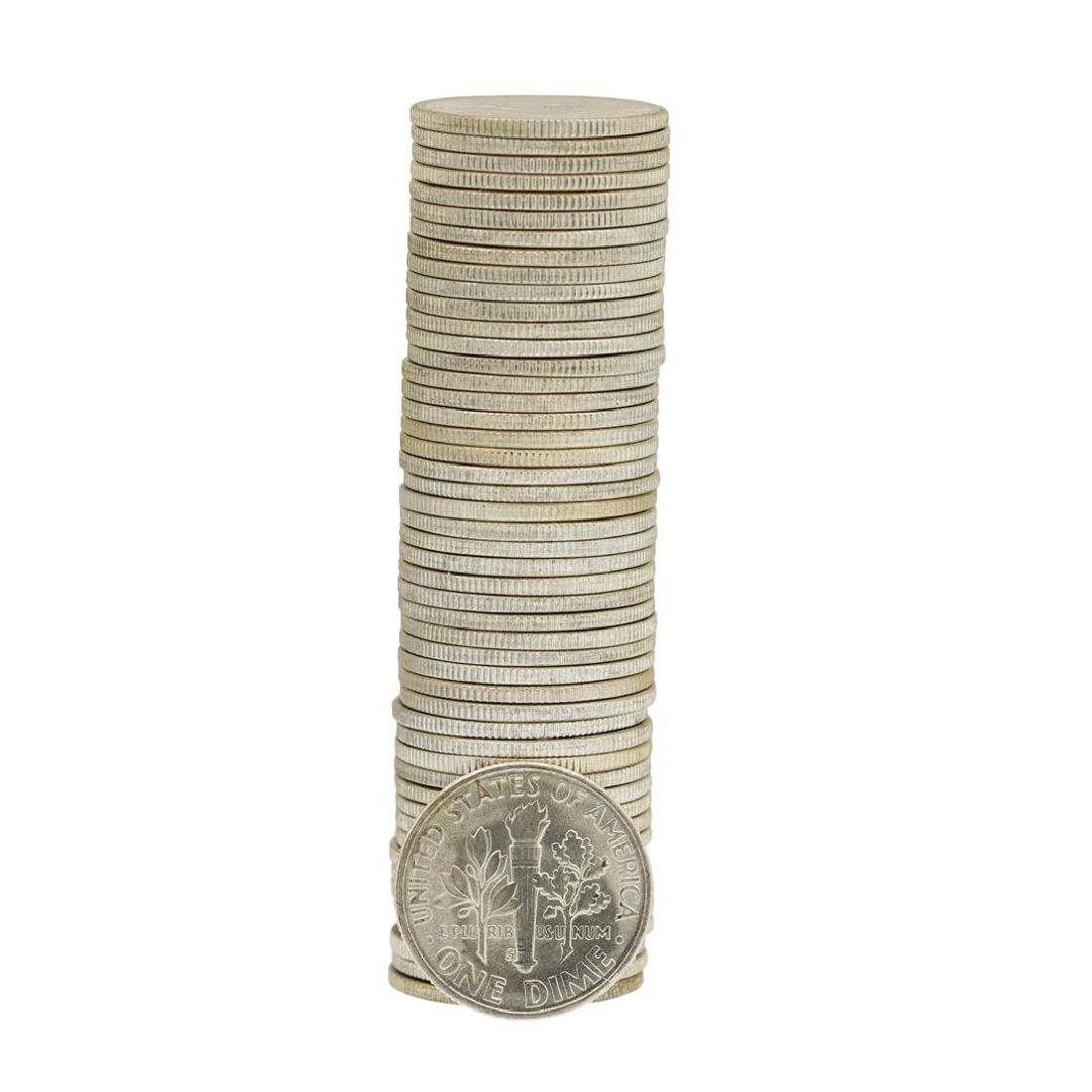 Roll of (50) 1955-S Brilliant Uncirculated Roosevelt - 2