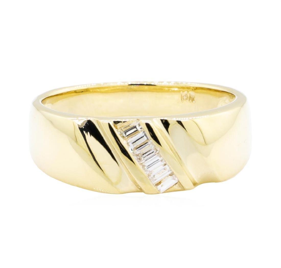14KT Yellow Gold 0.25 ctw Diamond Ring - 2