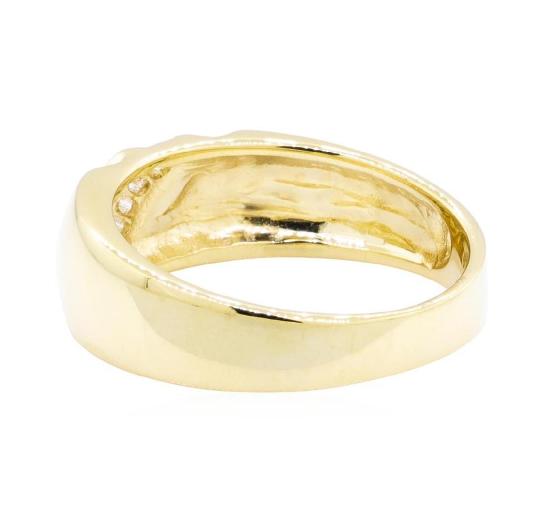14KT Yellow Gold 0.25 ctw Diamond Ring - 3