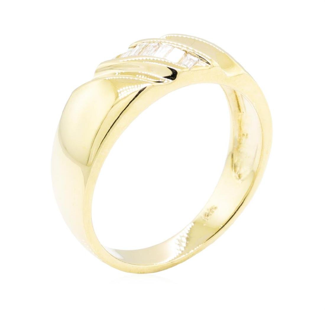 14KT Yellow Gold 0.25 ctw Diamond Ring - 4