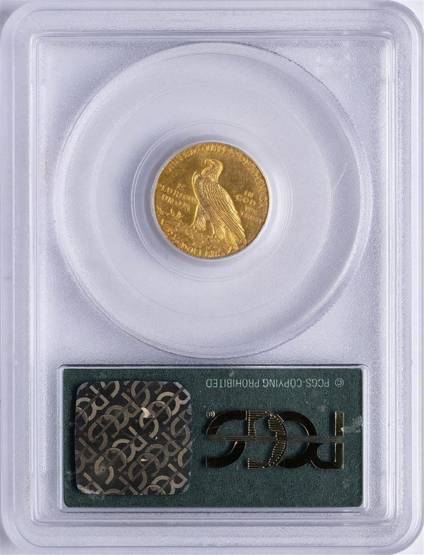 1911 $2 1/2 Indian Head Quarter Eagle Gold Coin PCGS - 2