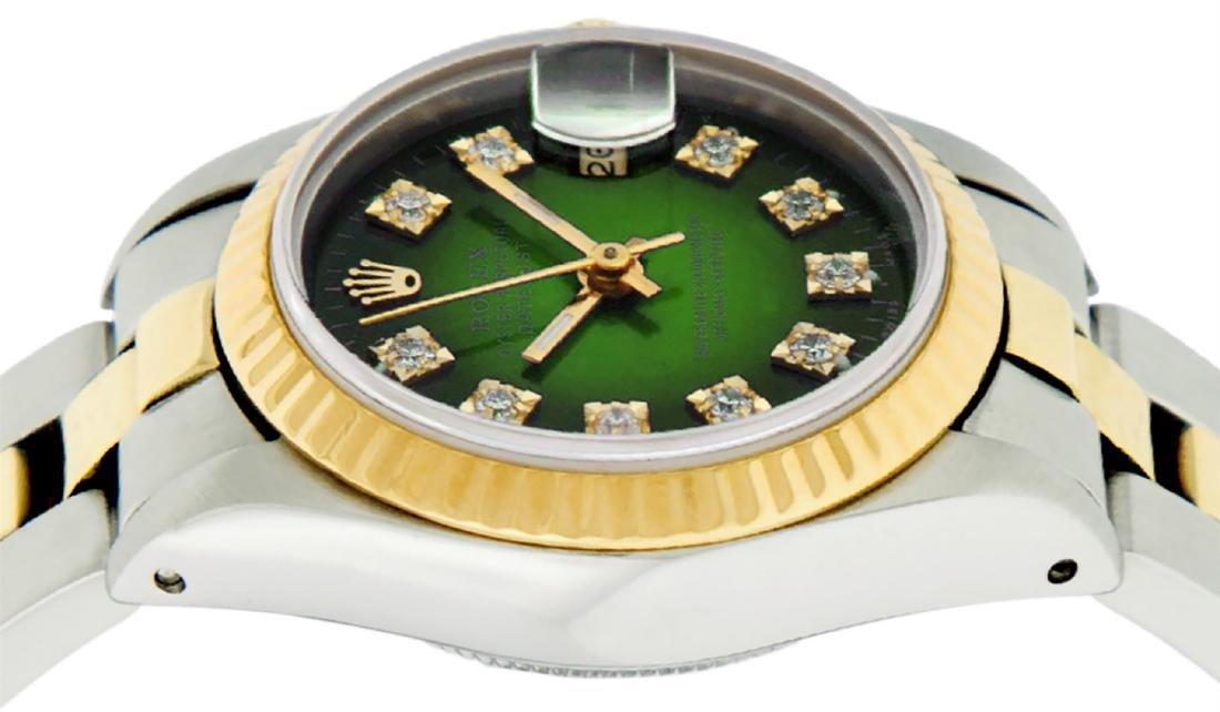 Rolex Ladies Two Tone 14K Green Vignette Diamond 26MM - 4