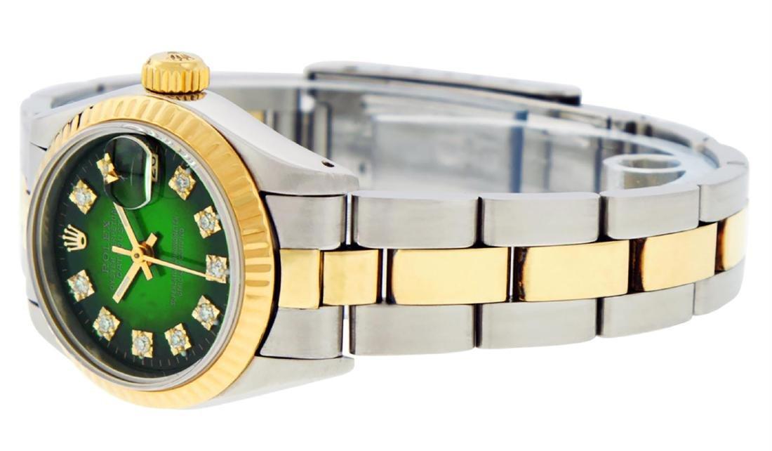 Rolex Ladies Two Tone 14K Green Vignette Diamond 26MM - 6