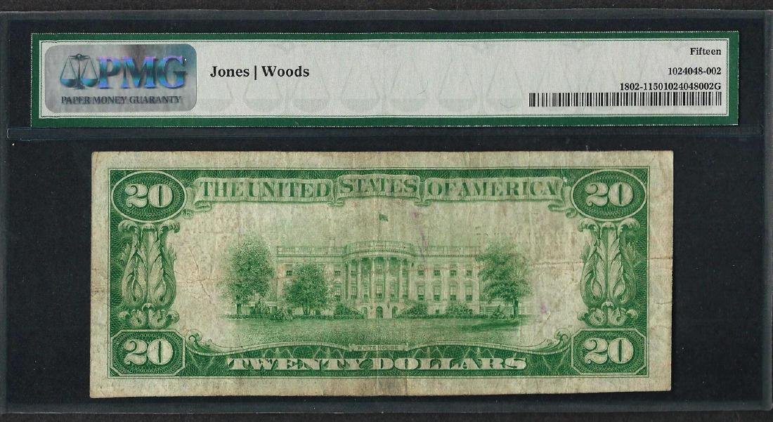 1929 $20 National Currency Note Hopkins, MN CH# 7958 - 2