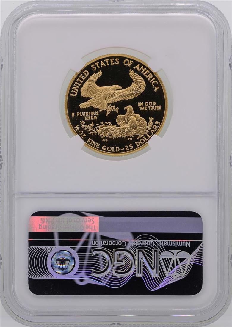 1987-P $25 American Gold Eagle Coin NGC PF69 Ultra - 2