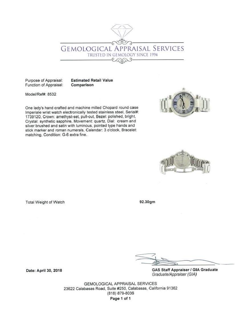 Stainless Steel Ladies Chopard Imperiale Wristwatch - 4