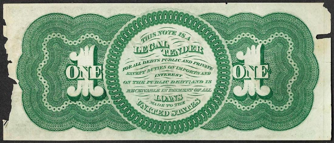 1862 $1 Legal Tender Note - 2