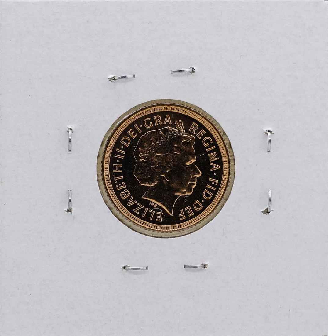 2000 Great Britain Elizabeth II 1/2 Sovereign Gold Coin - 2