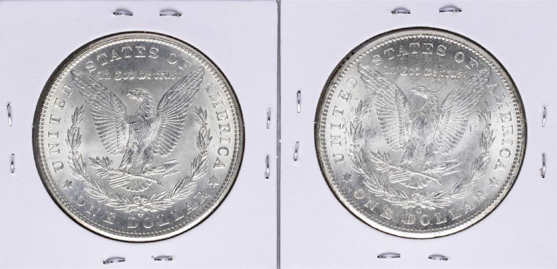 Lot of (2) 1902-O $1 Morgan Silver Dollar Coins - 2