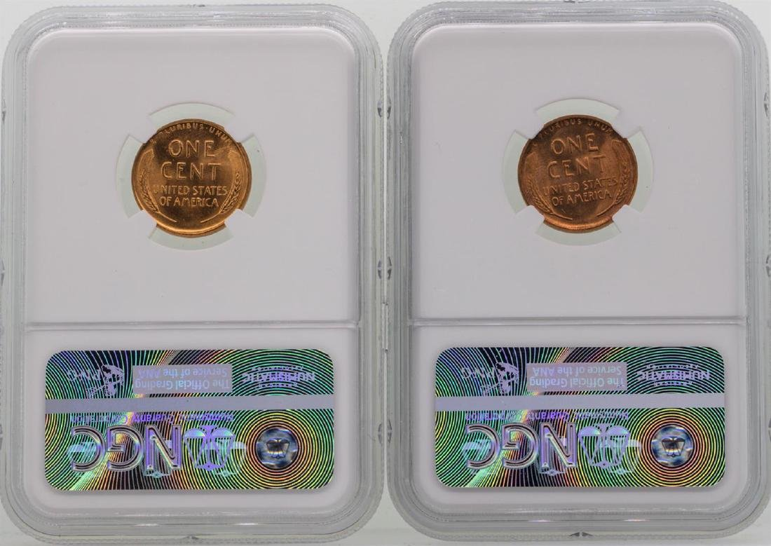 Lot of 1957 & 1957-D Lincoln Wheat Penny Coins NGC - 2